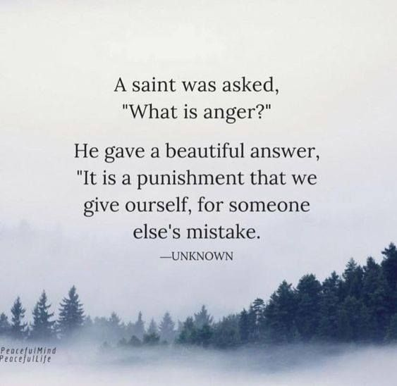 A Saint Was Asked What Is Anger Anger Quotes Positive Quotes Anger Management Quotes