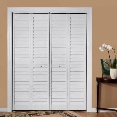 Home fashion technologies 36 in x 80 in 3 in louver - Interior bifold louvered closet doors ...
