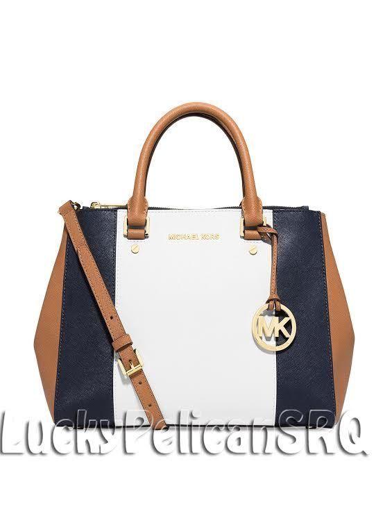 Michael Kors Tasche Navy White