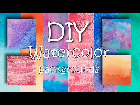6 Easy Watercolor Background Ideas For Hand Lettering Painting