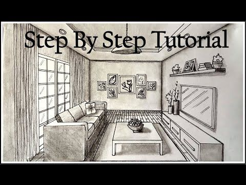 How To Draw Two Point Perspective Easy Drawing Tutorial For Beginners Youtube Perspective Room One Point Perspective Room One Point Perspective