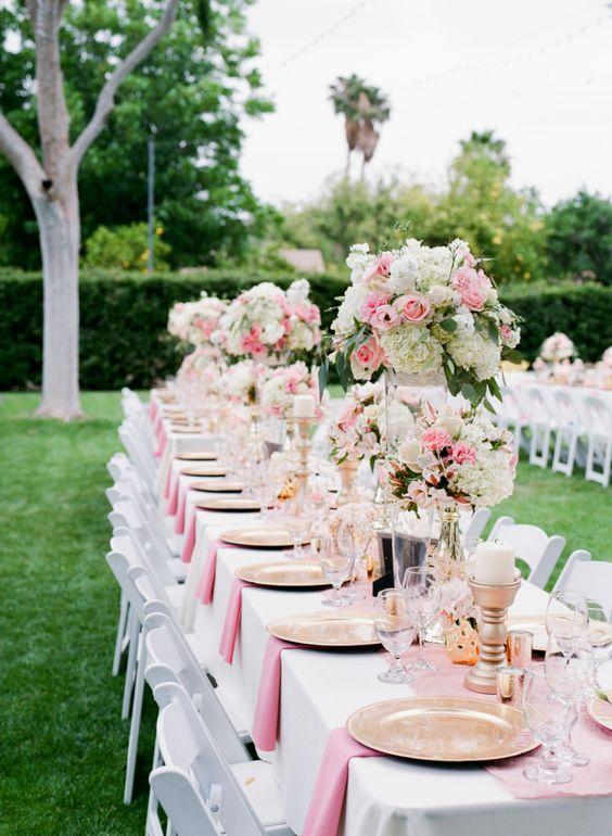 Pastel pink wedding decor: http://www.stylemepretty.com/california-weddings/corona/2016/10/24/california-pastel-pink-wedding/ Photography: Hello Blue - http://hellobluephoto.com/