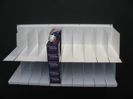 Salon hair color tube storage rack of hair color organizer for A salon to dye for