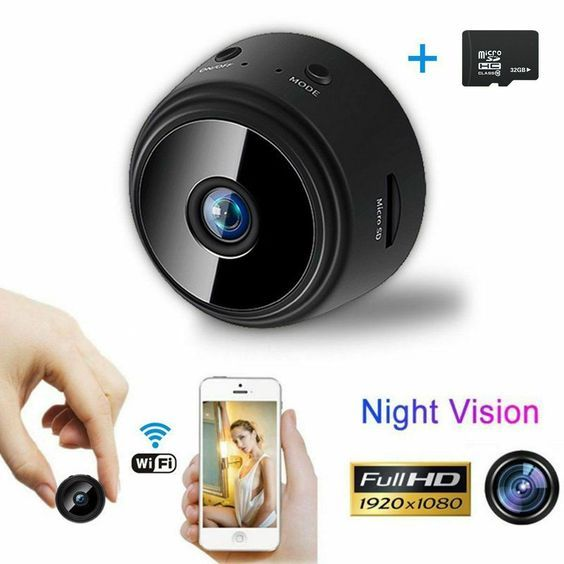 Mini Spy IP Camera Wireless WiFi HD 1080P Hidden Home Security Night Vision