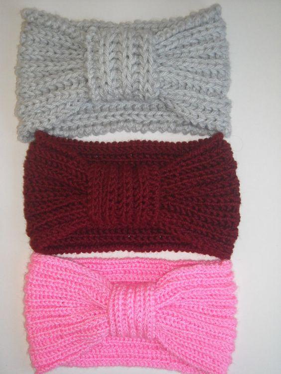 Easy Knitting Headband Pattern : PDF pattern easy knit headband , PDF pattern 2 hours knit headband ,Instant d...