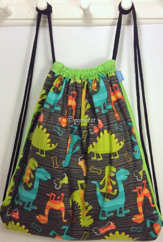 Ref. ML23- Davant de motxilla, de tela - Delante de mochila, de tela - Drawstring backpack, front, of fabric... aprox. 36 x 36cm VENUDA-VENDIDA-SOLD OUT