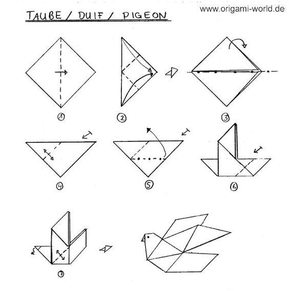 konfirmation origami taube simple einfach erstkommunion ideen pinterest fr hling f r. Black Bedroom Furniture Sets. Home Design Ideas