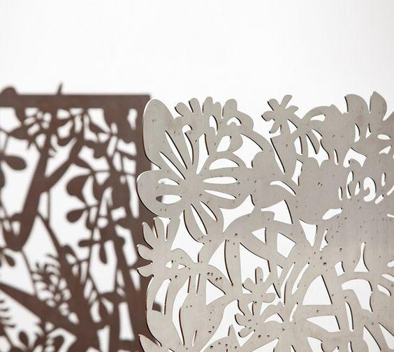 Laser-cut steel screen by Impact Art, via Flickr