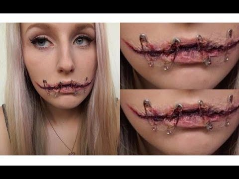Silenced Halloween Tutorial ♡ Gory Stitched Up Mouth | halloween ...