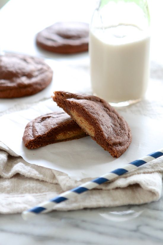 Reese's Peanut Butter Cup Filled Chocolate Pudding Cookies from www ...