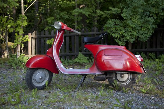 My scooter a Vespa GL from '64 before I sold it...