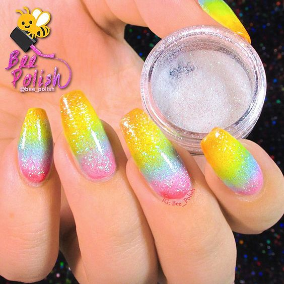 2g/Box Holographic Glitter Powder Shining Sugar Glitter Dust Powder ...