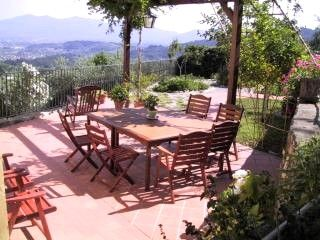 kitchen terrace - Villa Aquilea (antique villa & pool) Lucca Tuscany - Lucca - rentals