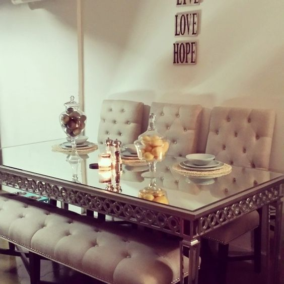 Mirrored Dining Room Set: @faireytales' Dining Room Is Chic With Our Sophie Mirrored