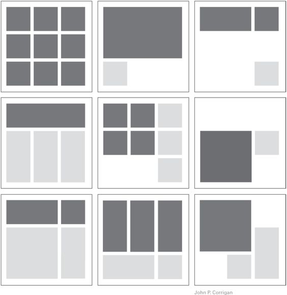 Square Grid Designs   grids organize content the nine square grid divides the page into ...