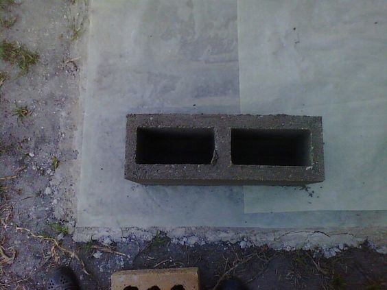 Freshly made brick.