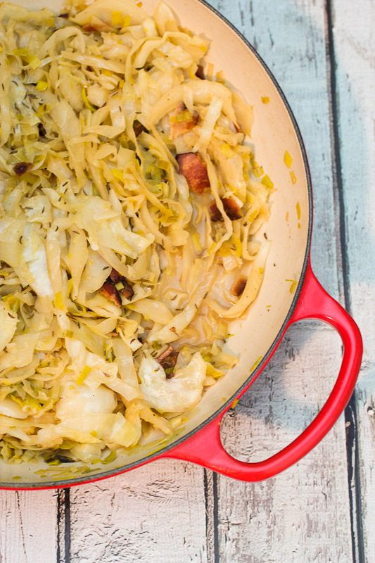 Use a GF beer for this Beer Braised Cabbage with Bacon for St. Patrick's Day!