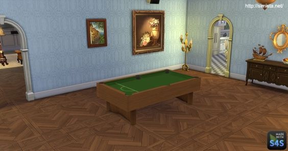 Simista: Pool Table Decoration Only • Sims 4 Downloads