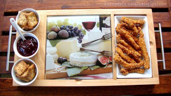 DOLCEmente SALATO: Bastoncini di pollo con mostarda di ribes