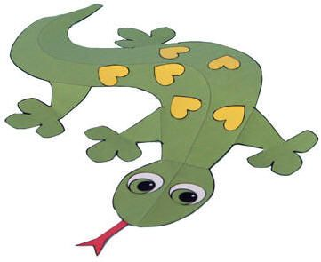 Gecko paper craft mon 6 5 cant believe i get paid to do for Get paid to make crafts