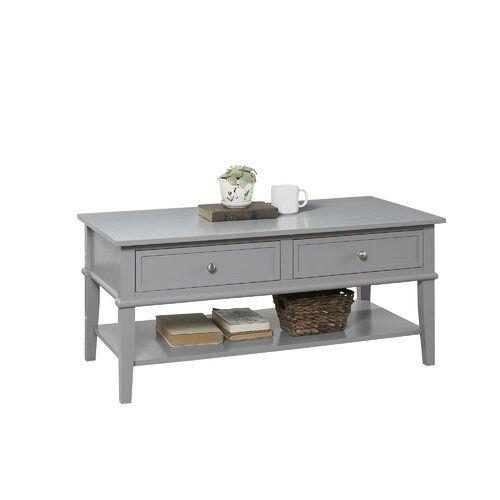 Beachcrest Home Demartino Coffee Table With Storage In 2020 Wohnzimmertische Couchtisch Graue Raume
