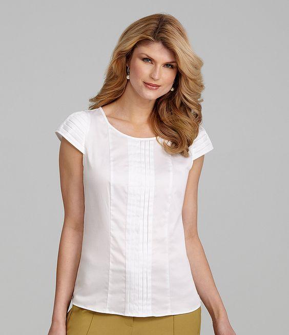 Antonio melani kayla pleated blouse