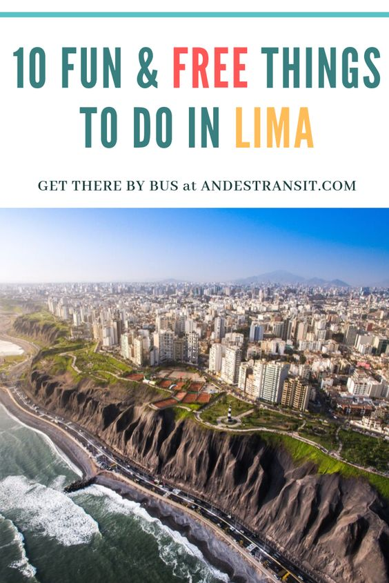 10 free things to do in Lima (Pinterest)