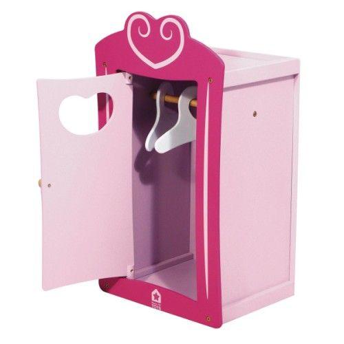 une jolie armoire tout en bois pour ranger tous les v tements des poup es poup e ch ries. Black Bedroom Furniture Sets. Home Design Ideas