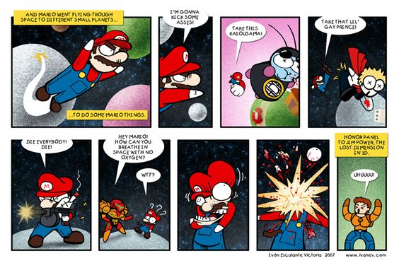 Mario Galaxy by ivanev.deviantart.com #Mario  #Nintendo