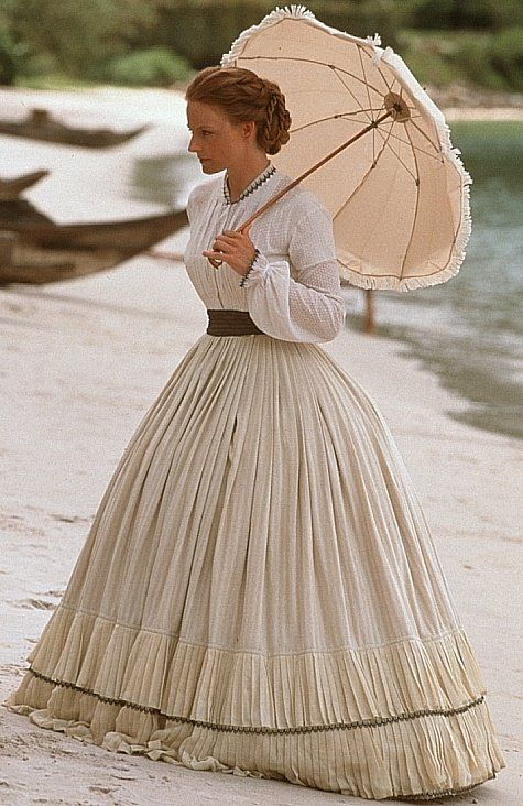 Jodie Foster as Anna Leonowens in Anna and the King. Costumes by Jenny Beavan
