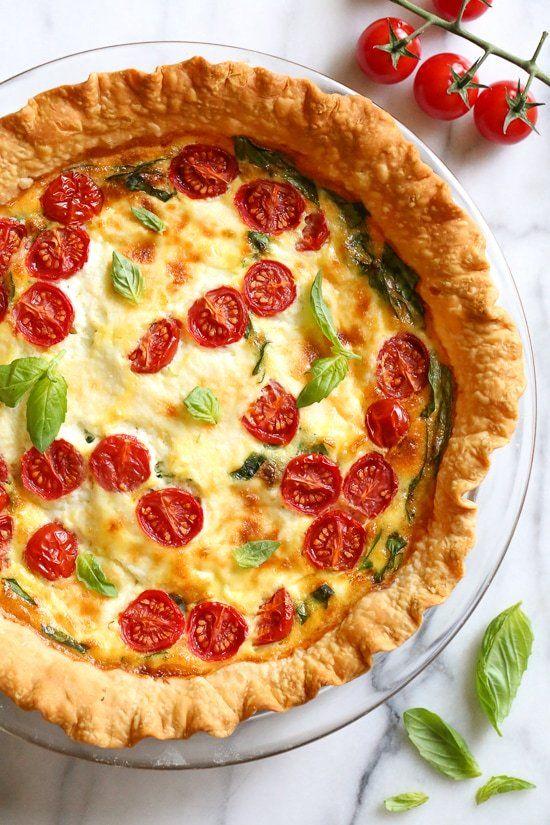Spinach Ricotta Quiche Recipe Vegetarian Quiche Recipes Quiche Recipes Vegetarian Quiche