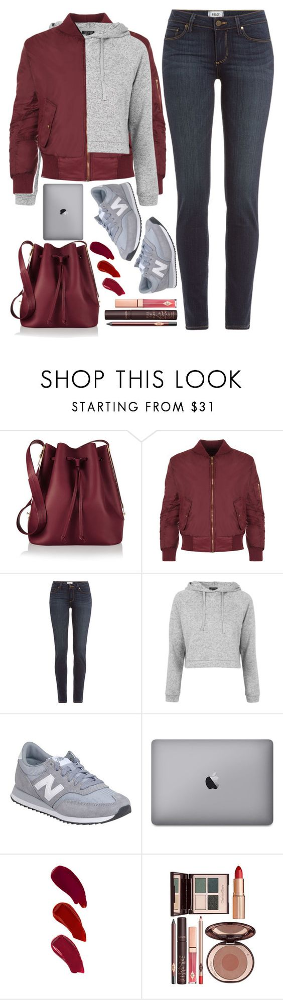 """""""back to school"""" by ecem1 ❤ liked on Polyvore featuring Sophie Hulme, WearAll, Paige Denim, Topshop, New Balance, Ellis Faas, Charlotte Tilbury, women's clothing, women and female"""