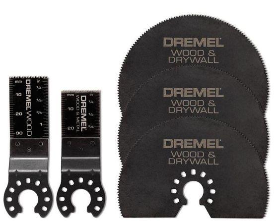 Dremel Multi Max Wood Plastic Drywall Flush Blades Cutting 5-Pieces Storage Case…