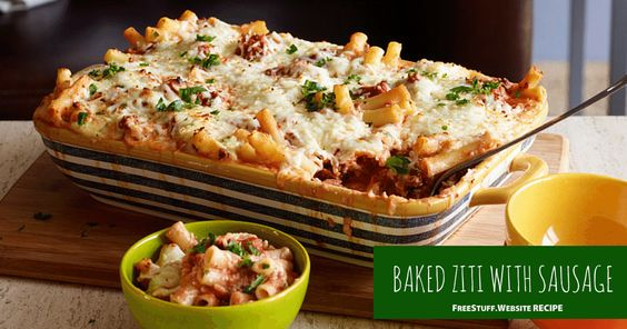 This Baked Ziti with Sausage recipe makes enough to eat right away and enough for freezing as well. Such a time saver!