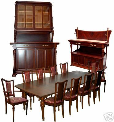 13 PC French Art Nouveau Dining Set by Hector Guimard | eBay