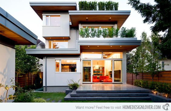 Geometric Modern Home Designs Modern Modern Exterior And House - Beautiful interiors with asian influences tarrytown residence by webber studio architects