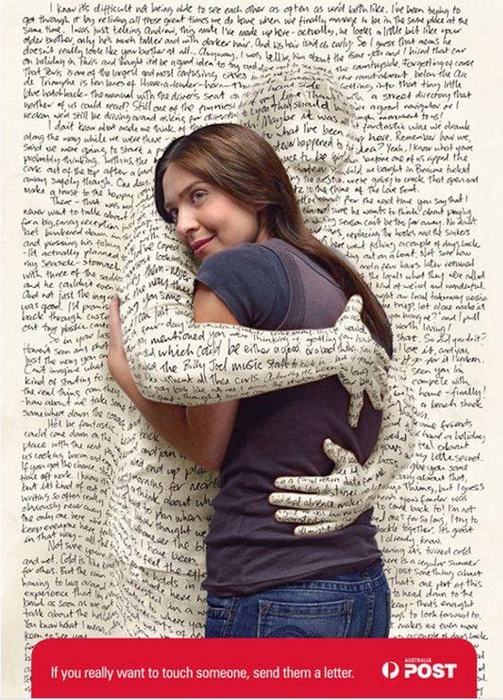 Si quieres abrazar a alguien, escríbele una carta #publicidad