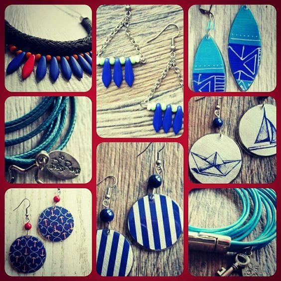 www.lesperlesrares.etsy.com #lesperlesrares #handcraft #printemps-ete2015 #necklace #jewel #hancraftedjewelry #quebec #handmade #bijoux #montreal #etsyquebec #etsymontreal #etsy #navy