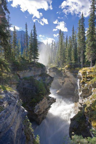 'Alberta , Kanada (Michele Falzone)' by Jon Arnold - Athabasca Falls Waterfall, Jasper National Park, Alberta, Canada