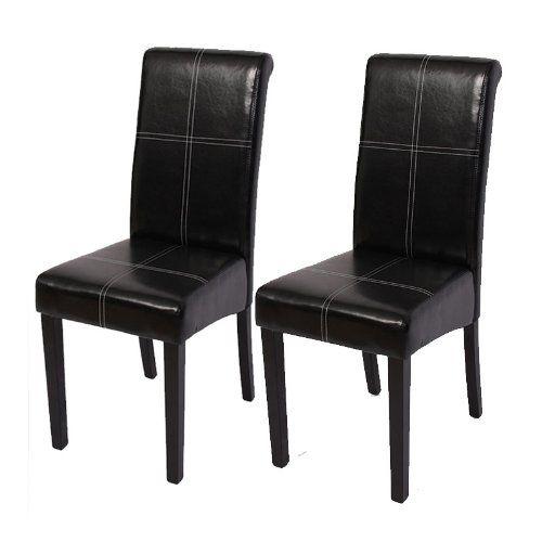 Set 2x sedie Novara III pelle sala da pranzo 60x41x99cm ~ nero piedi scuri Mendler http://www.amazon.it/dp/B00C2U7EJQ/ref=cm_sw_r_pi_dp_HS-Wub1CCM3EV
