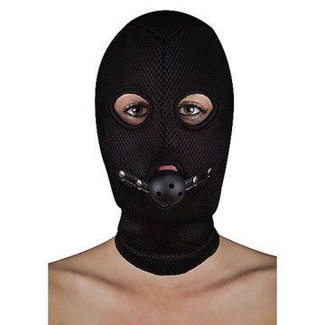 BDSM masker van netstof met open balknevel