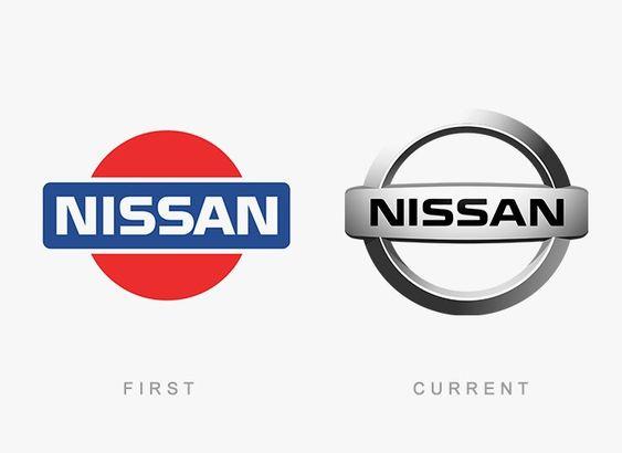 eski ve yeni nissan logo tasarım