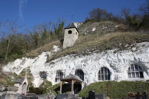 Troglodyte Church in Haute-Isle France