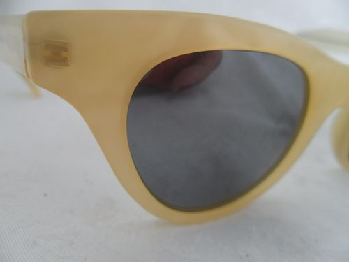Vintage Christian Roth Plastic Sunglasses White Pearl Plastic Women Series 6600 | eBay