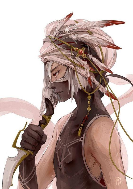 anime girls belts feathers - photo #11