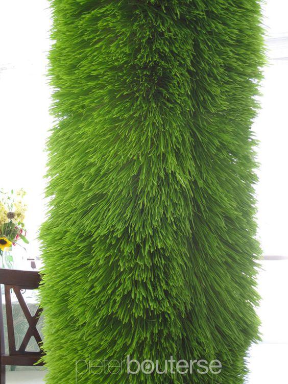 """""""grass"""" tent columns -  Pieter Bouterse Studio"""