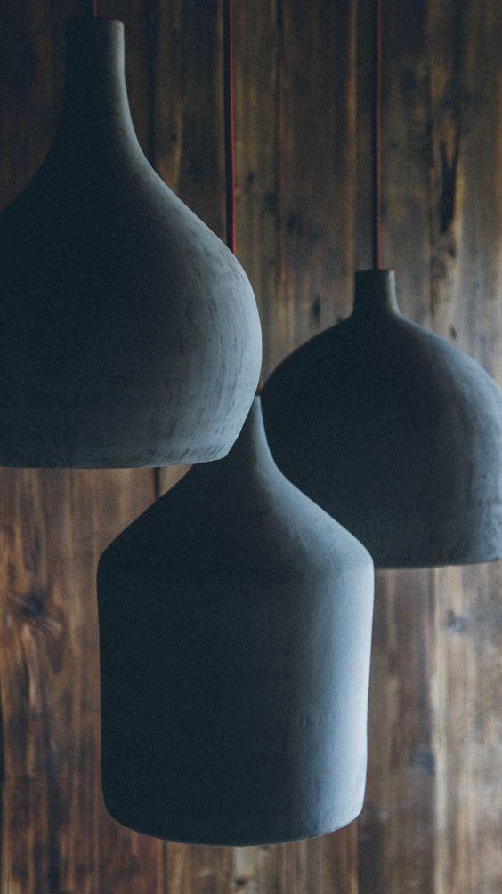 #Cement pendant #lamp HORMIGON - @Namuhmex
