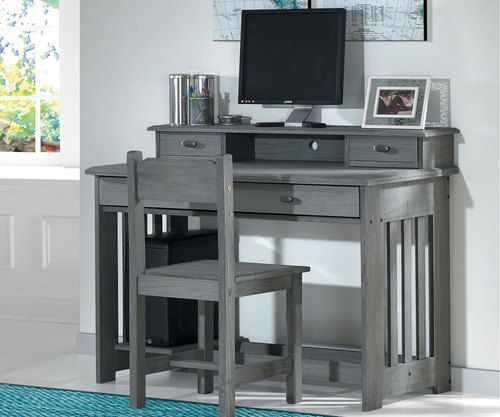 Westport Gray Desk Discount Bedroom Furniture Grey Desk
