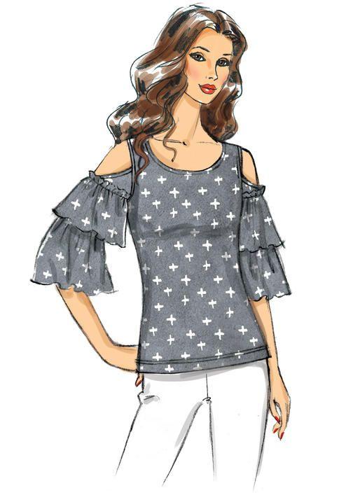 B6560 Fashion Fashion Illustration Butterick Sewing Patterns