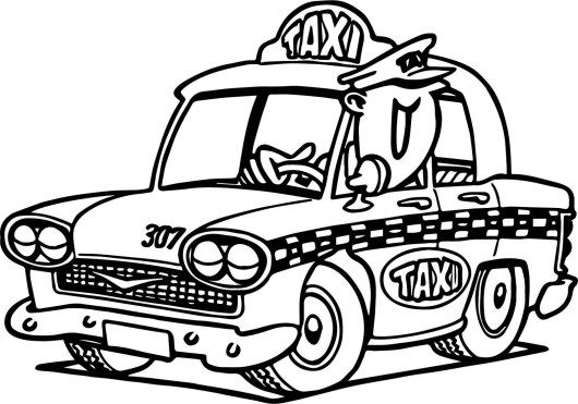 Fantastic Taxi Coloring Sheets For Typically 4 Or 6 Years Old S